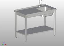 Stół zezlewem ipółką